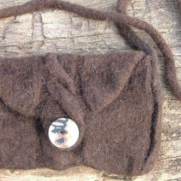 Cable Shoulder Bag – Knitted/Felted