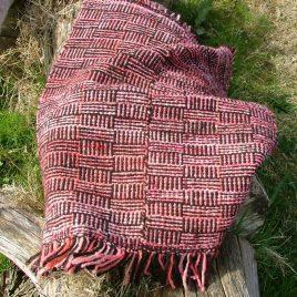 Log Cabin Mini Rug – Brown & Pink